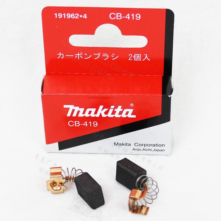 1 Pair Original Carbon Brushes For Makita CB 406 407 418 419 CB406 CB407 CB418 CB419 6x9x11.5mm