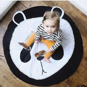 INS new phim hoạt hình gấu trúc, tinh khiết bông bò mat cho trẻ em, Fox game mat, vòng thảm, trẻ em của phòng trang trí