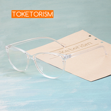 Toketorism transparent frame glasses woman's eyeglasses retro glasses with clear lenses 7342