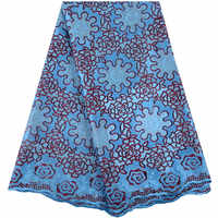 2019 Sky Blue Swiss Voile Lace In Switzerland For Women Sewing Dress Material High Quality Swiss Voile Lace In Switzerland Y1482