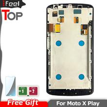 For Motorola Moto X Play Xt1562 Xplay LCD Display With Touch Screen Digitizer Assembly Repair Parts with Frame
