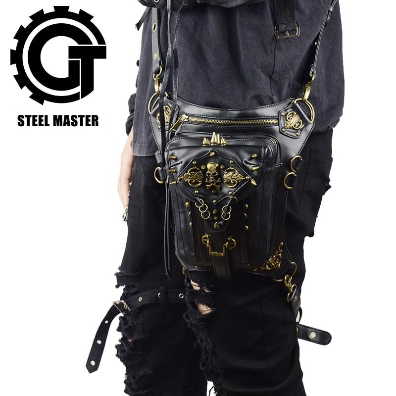 Steampunk Skull Waist Bag Messenger Shoulder Leg Bag Gothic Unisex Female Male Fanny Bag Personality Men Women Crossbody Bags