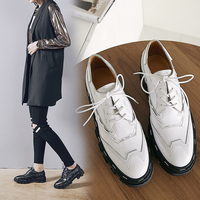 b0c8f88133 LAPOLAKA Hot Sale Brand New Genuine Cow Leather Pigskin Shoes Woman Fashion  Lace Up Oxford Women