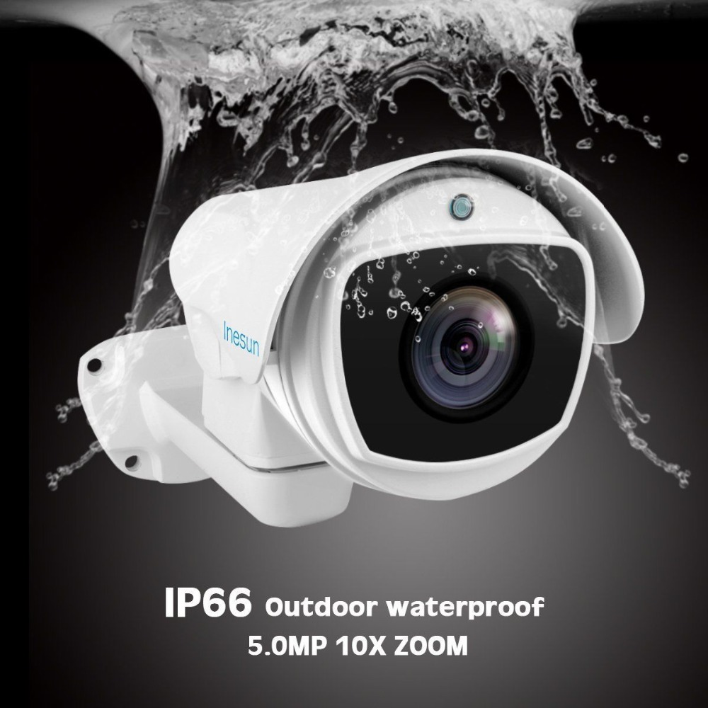 Image 2 - Inesun 5MP (2688x1944) Super HD AHD PTZ CCTV Camera 10X Optical Zoom Outdoor Video Surveillance Security Camera 330ft Laser IR-in Surveillance Cameras from Security & Protection