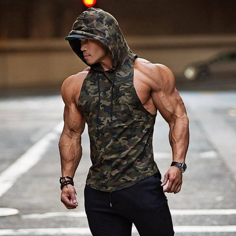 Bodybuilding Tank Tops Gyms Workout Sleeveless Hoodies