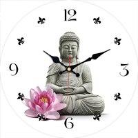 3 узора Будда дизайн часы Креативный современный бесшумный Декор для гостиной домашний декор часы большие настенные часы без тиканья звук