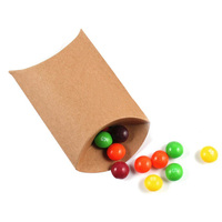 Cute Kraft Paper Pillow Favor Gift Box Wedding Party Favour Gift Candy Boxes Paper Gift Box