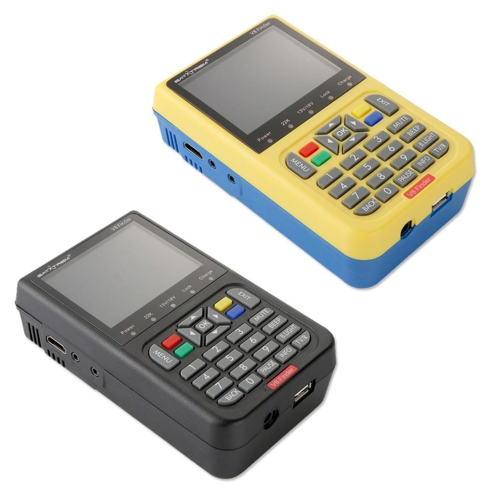 Satxtrem V8 Finder Satellite Finder DVB S2 Receiver Digital Signal Meter HD TV Antenna Outdoor Signal Detector Adjust Sat Dish-in Satellite TV Receiver from Consumer Electronics    2