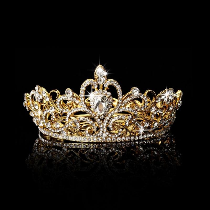 Rhinestone King Crown Tiara Wedding Pageant Bridal Diamante Headpiece Jewelry