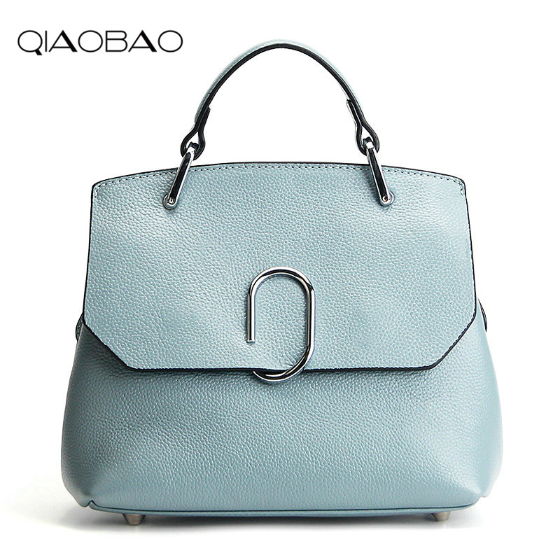 QIAOBAO Handbags Women Messenger Bags Genuine Leather Women Bags Retro Handbags Famous Brand Fashion Casual Ladies Shoulder Bag 2017 new female genuine leather handbags first layer of cowhide fashion simple women shoulder messenger bags bucket bags