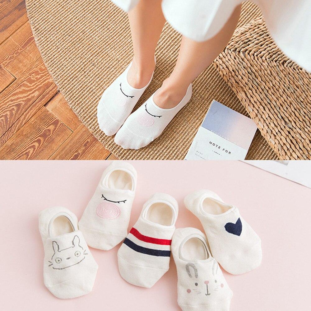 5 Pairs New Arrival Women Cotton   Socks   Cat Ankle   Socks   Short   Socks   Casual Summer Invisible Girl Students   Socks   35-40