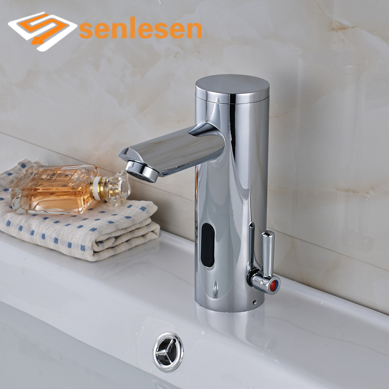 Wholesale and Retail Bathroomm Sense Faucets Chrome Finish with Hot Cold Water Deck Mounted sense and sensibility