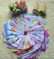 Newest 29 Pieces Colorful Cutter Ladies Craft Vintage Hanky Floral Handkerchief