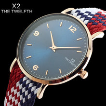 Women Sports Watch New Fashion Luxury Brand X2 THE TWELFTH Perlon Watch Women Dress Quartz Wristwatches