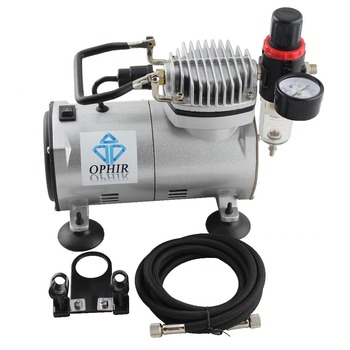 OPHIR PRO Cylinder Piston Compressor 110V/220V Airbrush Compressor for Airbrushing Tattoo Nail Art Hobby Body Paint Makeup_AC089 ophir pro airbrush compressor kit dual action airbrush set for cake decorating nail art model toy paint body tattoo ac088 ac004a