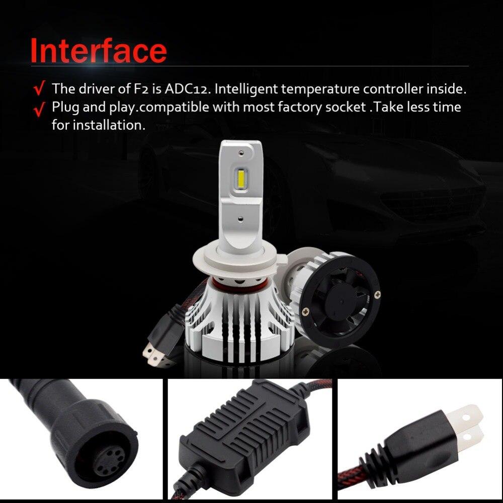 Safego 36 W H11 H4 H7 Voiture phare LED Kit-Safego H8 H9 9005 9006 Ampoules 2 LED très brillante Puces 6000Lm Auto Ampoule Blanc 6000 K - 5