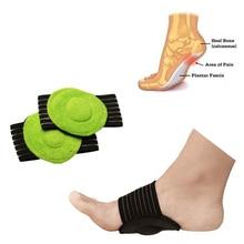 Genkent 1 пара подошвенный фасциит Арка помощь ноги подушка рукав Подушка плоская Арка Поддержка ортопедические стельки пятка для ног, ортопедический