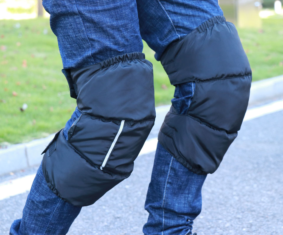 New Winter Windproof Men/'s Women/'s Duck Down Long Knee Leg Warmers Leg Protector