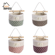 Snailhouse New Wall Hanging Organizer Bag Lace Trim Storage Container Hanger Bags laundry Basket Organizador