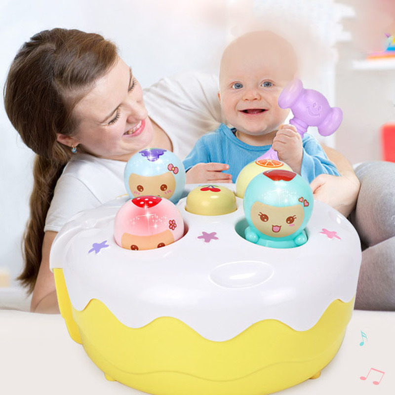 Fruit Cake Beat Hamster Music Game Baby Toy Hand held Mole Game Machine Electric Hamster Puzzle Children 39 s Toys Birthday Gift in Gags amp Practical Jokes from Toys amp Hobbies