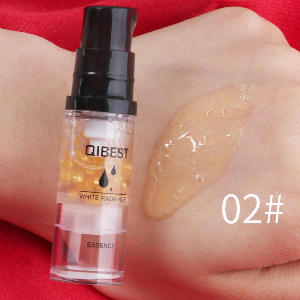 QIBEST ماكياج الحليب دائم السيطرة النفط ماكياج الوجه التمهيدي مستحضرات التجميل يتقلص المسام الوجه ترطيب جوهر الحليب MaquillajeTSLM2