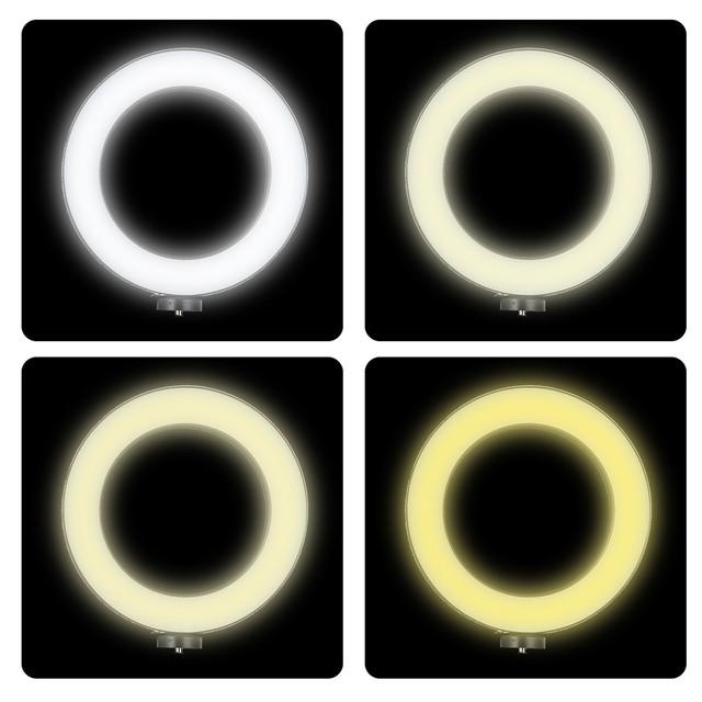 Tycipy Ring Light LED Photography Selfie Light Photo Camera Video Table Mini Tripod Selfie Stick Bluetooth Shutter USB Cor