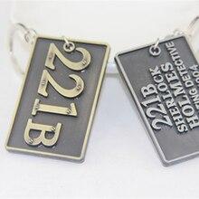 ZRM joyería de moda Sherlock Holmes llavero Sherlock 221B llaveros consultoría Detective llavero cadena titular para Fans Souven