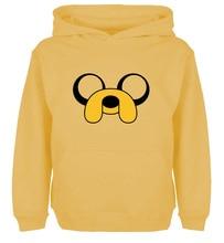 Cute Cartoon ADVENTURE TIME Jake Dog Design Hoodie Mens Boys  Womens Ladys Girls Comfortable Sweatshirt Tops