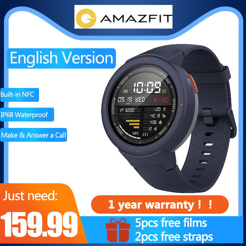 Anglais Version Livraison sangle & Livraison film Xiaomi Huami AMAZFIT Point 3 horloge Intégré NFC IP68 GPS Sport Montres Intelligentes répondre aux appels