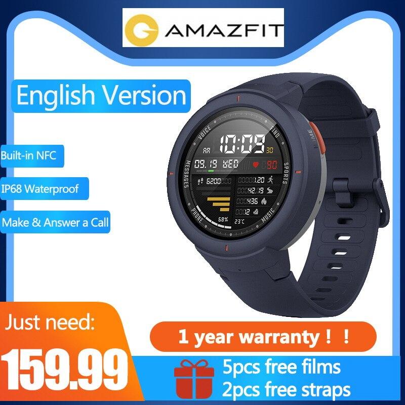 Versione inglese della cinghia Libera & Il Trasporto pellicola Xiaomi Huami AMAZFIT Sull'orlo 3 Built-In NFC IP68 GPS Sport Orologi Smart risposta le chiamate