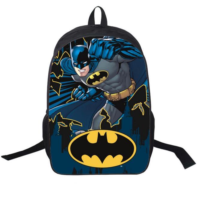 16 inch Mochila Batman Bags For School Boys Batman Backpack Cool ...