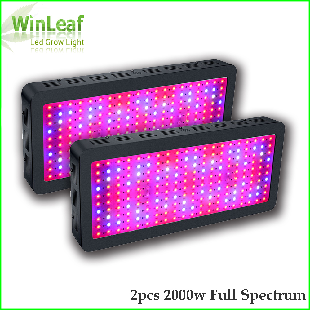 2pcs LED Grow Light Full Spectrum 2000W Double Chips White Plant Grow Lamp for Greenhouse Tent Hydroponic Bloom High Yield led grow light 450w greenhouse lighting plant growing led lights lamp hydroponic indoor grow tent high par value double chips