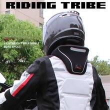 Yeni moto rcycle boyun koruyucu moto yarış boyun koruma neckguard yansıtıcı fermuar 3D servikal omurga koruyucu donanım parçaları