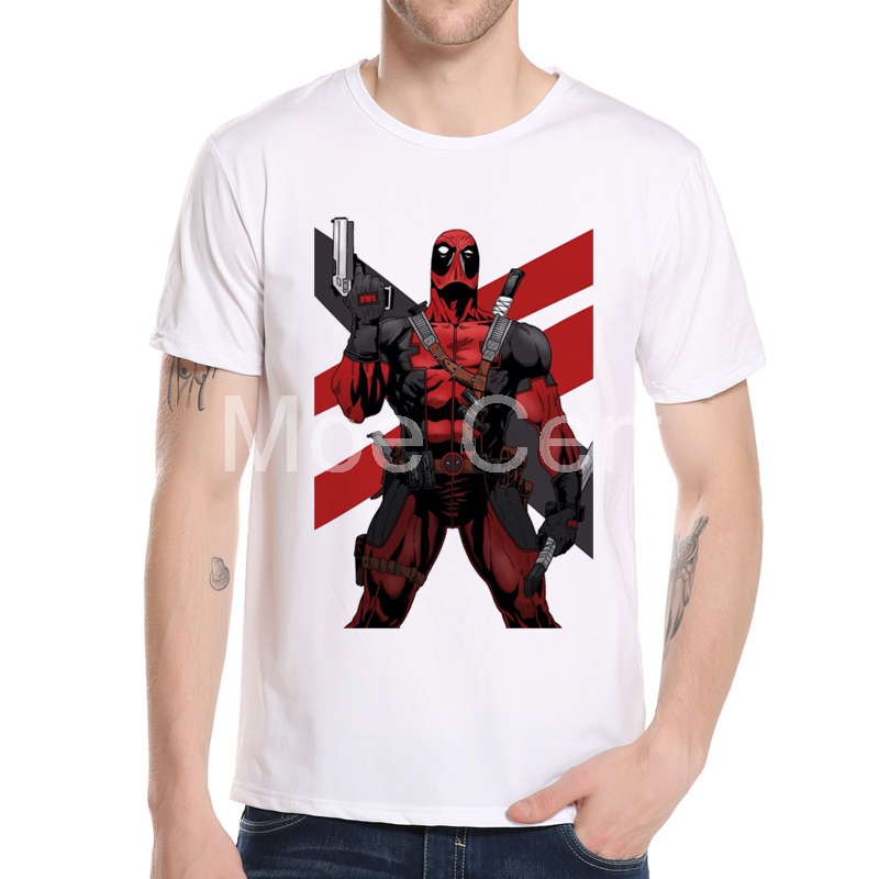 MOE CERF 2017 New Arrival Deadpool Creative Top Cool T Shirt Classic Fashion Design Style Tee
