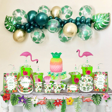 Hawaii Party Luau Flamingo Party Palm Leaf Balloons Jungle Birthday Party Decor Hawaiian Tropical Party Wedding Decorations