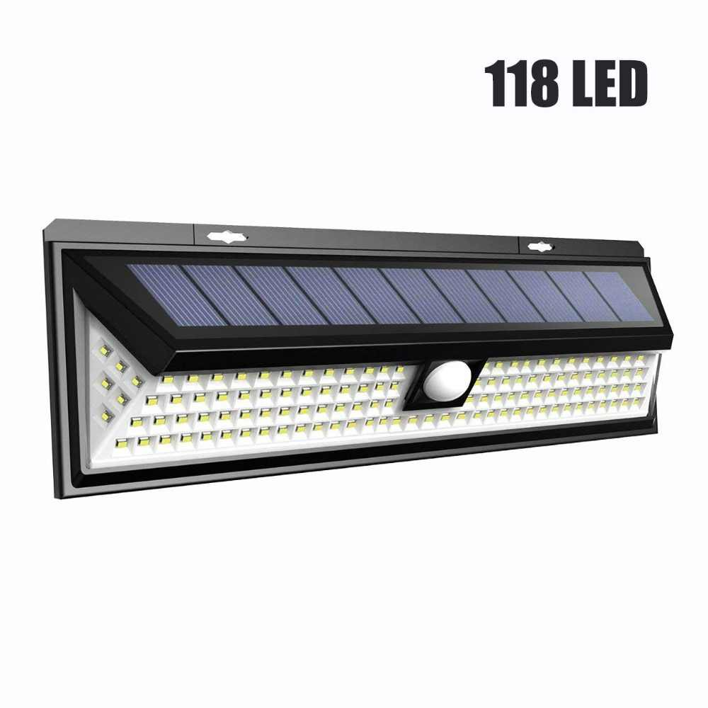 26/90/79/118 LED 1000LM Waterproof PIR Motion Sensor Solar Garden Light Outdoor LED Solar Lamp Security Pool Door Solar Lighting