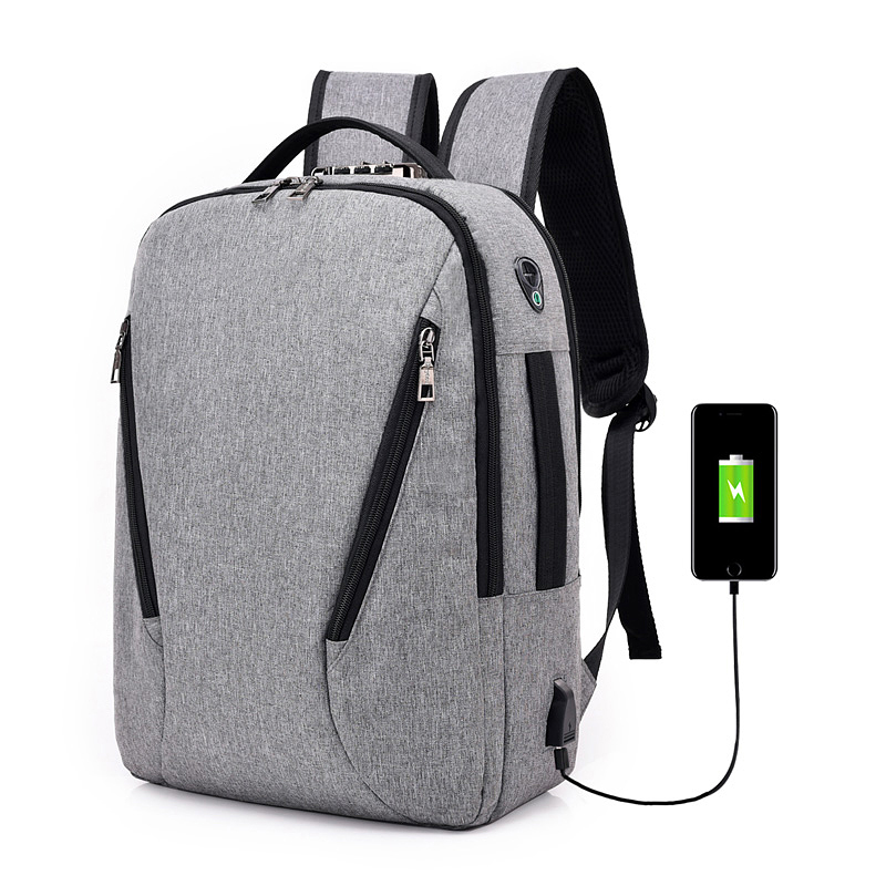 Men's USB Charging Anti Theft Backpack Laptop Bag Women's Fashion Casual Travel Multifunction Backpacks