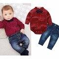 2016 nova outono hot vendas de bebê menino do bebê menino conjunto ocasional camisa de manga longa + calça 2 PC