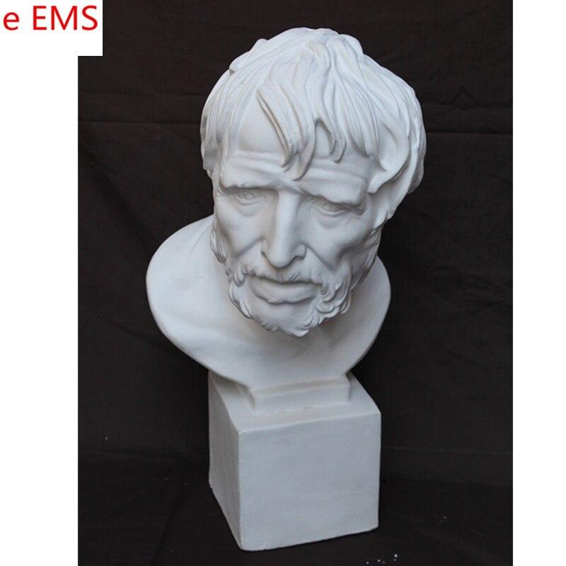 50cm Gypsum Pirate Bust Statue Gypsum Powder Craftwork Home Decorations Art Material L2328