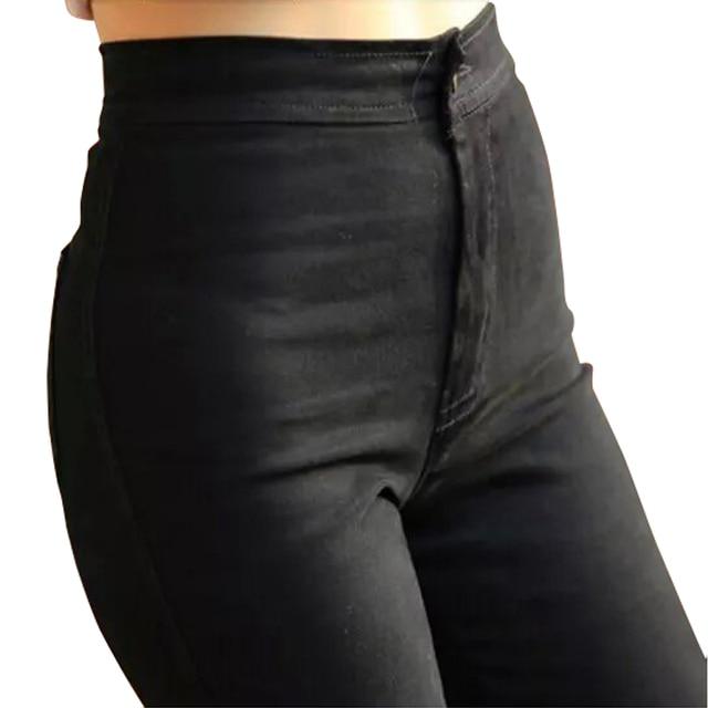 High Waist Jeans Sexy Woman Jeans Elastic Trousers Feet Pants Leggings Black Skinny Jeans Woman Pencil Women Long Pants