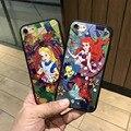 Repujado mermaid alice case para iphone 7 7 plus 6 6 s 6 más tpu + pc case funda cubre el envío libre