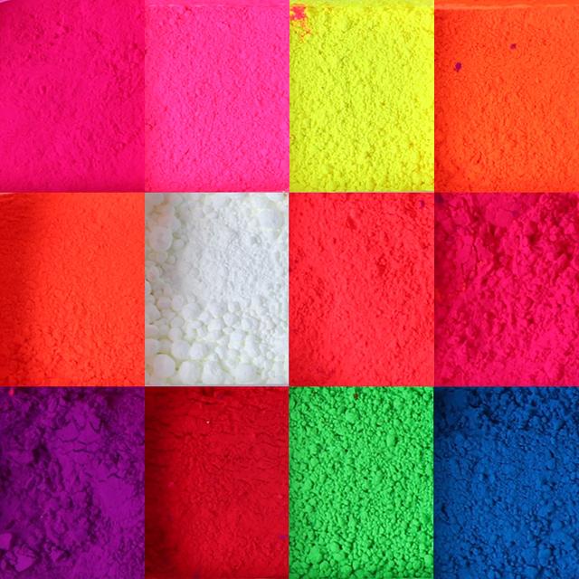 1 Box Neon Pigment Powder Nail Fluorescence Gradient Glitter