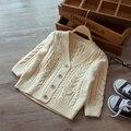 Niños de la capa de Géneros de Punto Cardigan Sweater Ropa Niños Útiles Escolares Ropa de Abrigo Para Niñas Bebé Cardigan Niña Niño 60J093