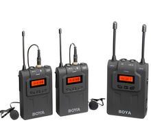 BOYA BY-WM8 UHF Dual беспроводной петличный микрофон systerm lav интервью mic 2 Передатчики и 1 приемник для DSLR видеокамера