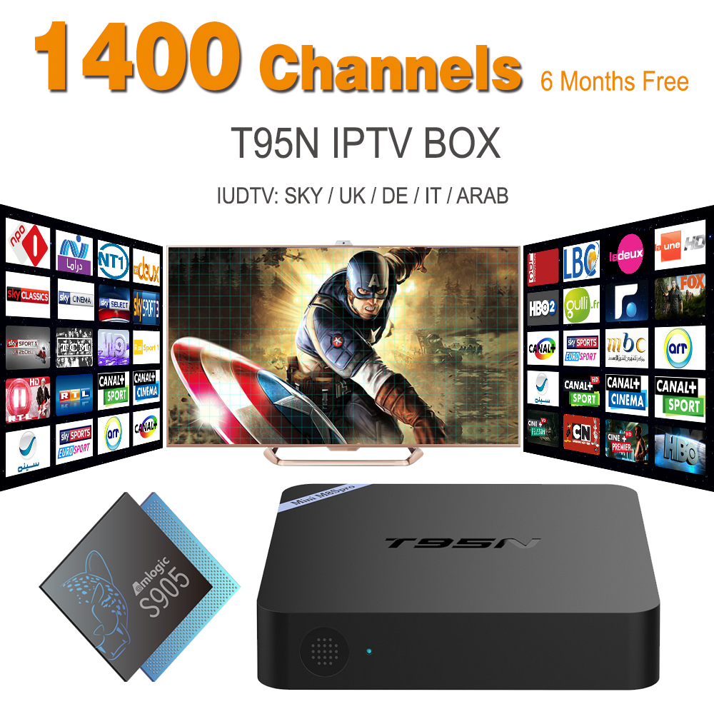 ФОТО French Italy UK DE European IPTV Abonnement Free With S905X Android 6.0 1 Smart TV 2G/8G Kodi Miracst Sports IPTV Box