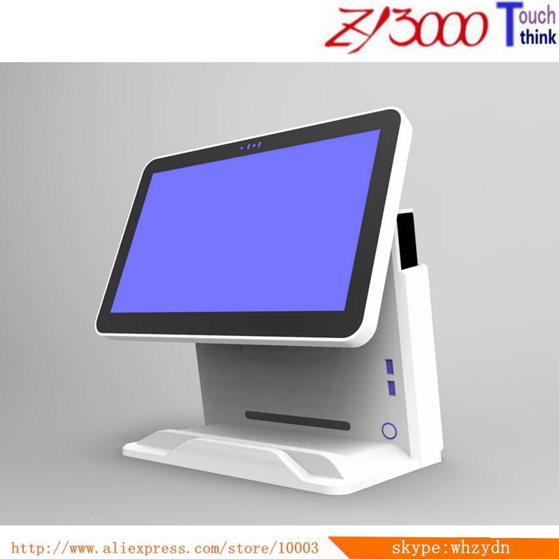 New Stock  I5 4200U 4g Ram 64G SSD 15 Inch Capacitance Mulit Touch Screen  All In One Pos Terminal With MSR Card Reader