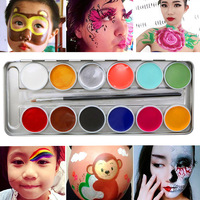 12 Colors Face Body Oil Painting Art Makeup Halloween Party With Brush Fancy Dress Beauty