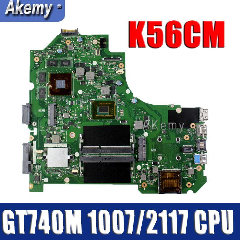 Amazoon K56CM Laptop Motherboard For ASUS K56CM K56CB K56C S550CM S550C Test Original Mainboard 1007/2117 CPU GT740M-2G