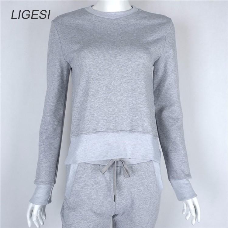 Women's Cotton Tracksuit, 2 Piece Set, Sportswear Suit, Women's Irregular Tracksuit 28