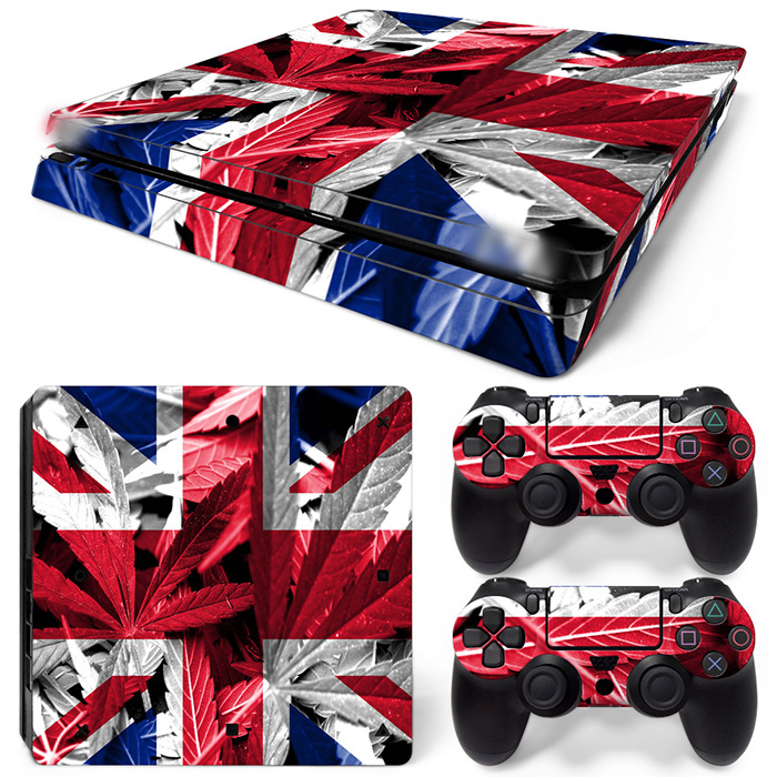 Free Drop Shipping protective skins for ps4 slim skin sticker-England flag TN-P4Slim-1523